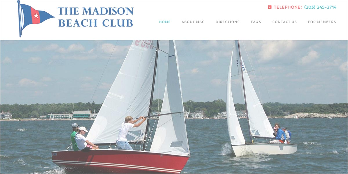 Madison Beach Club website home page