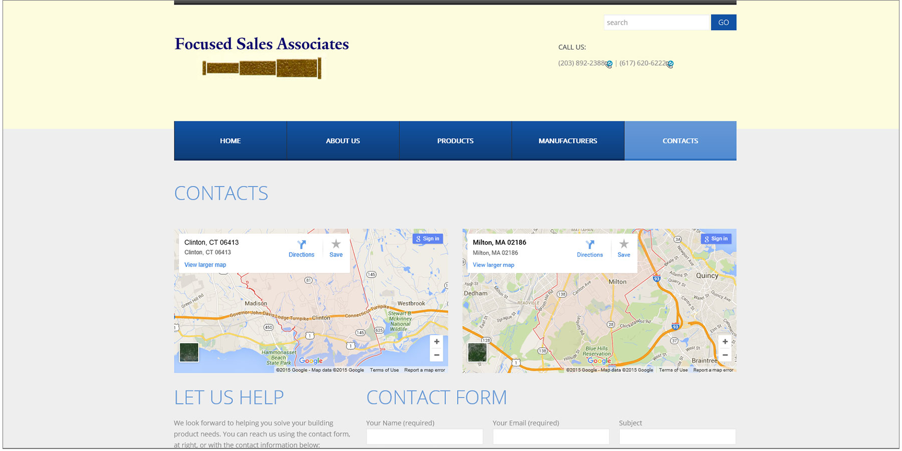 Focused Sales Associates Contacts